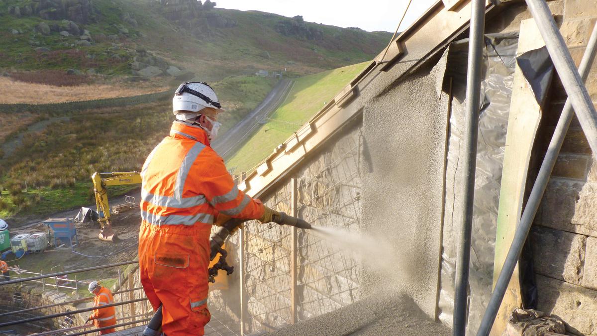 Masonry Reservoir Spillway Refurbishment (2017)