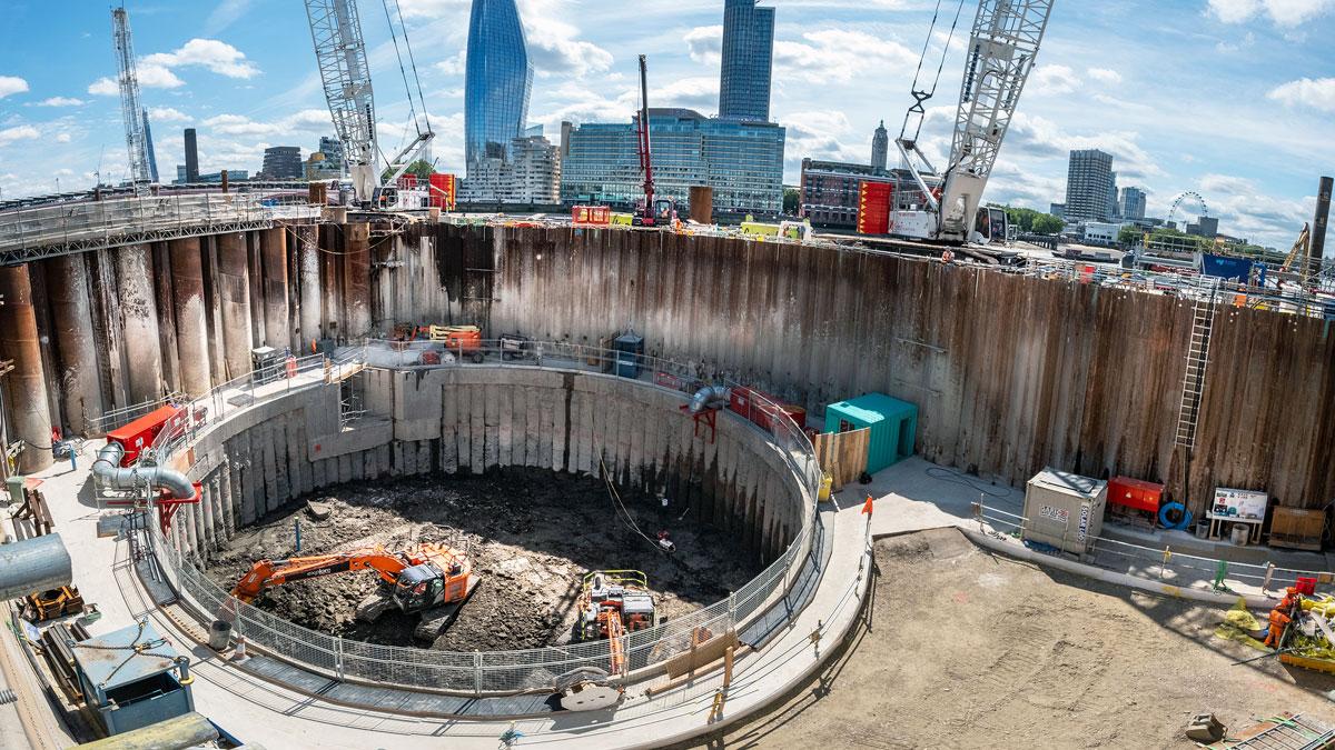 Thames Tideway Tunnel – Central Contract – Blackfriars Bridge Foreshore (2021)