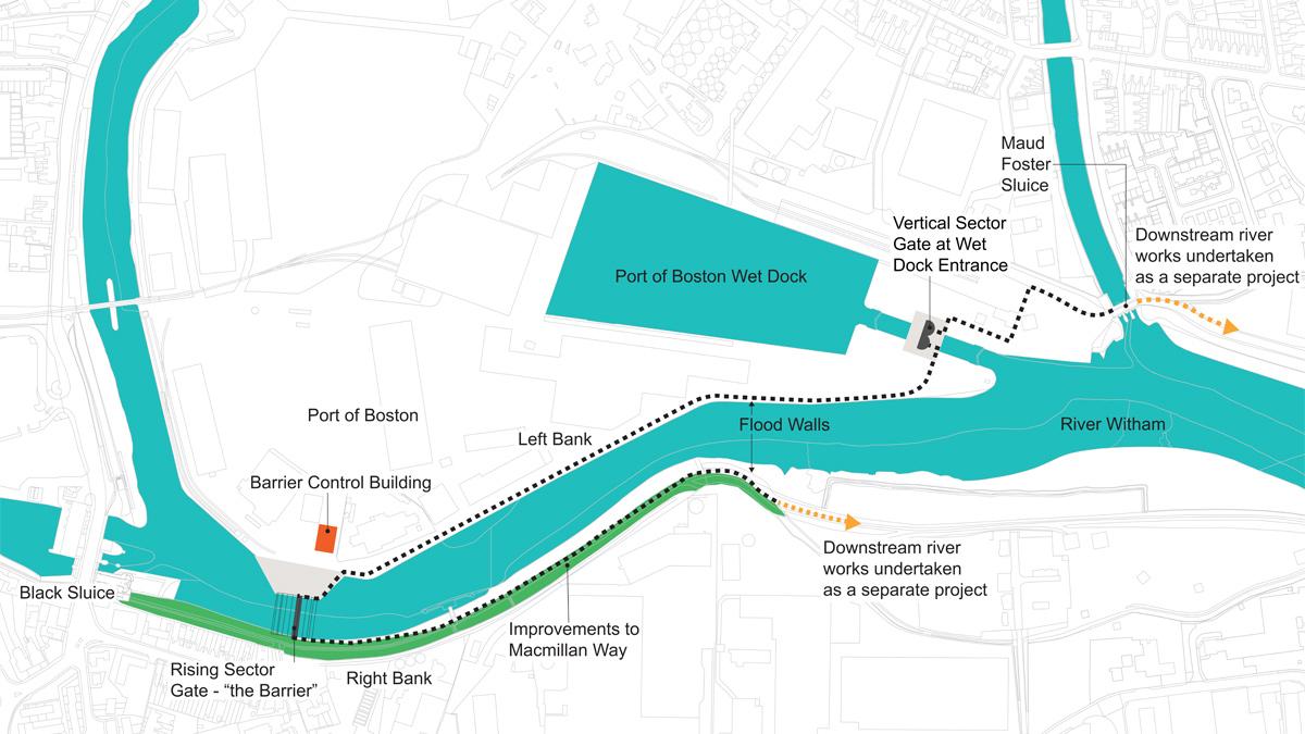 Boston Barrier Tidal Flood Defence Scheme (2021)